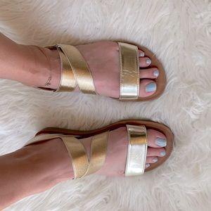Golden Aphrodite Strappy Sandals